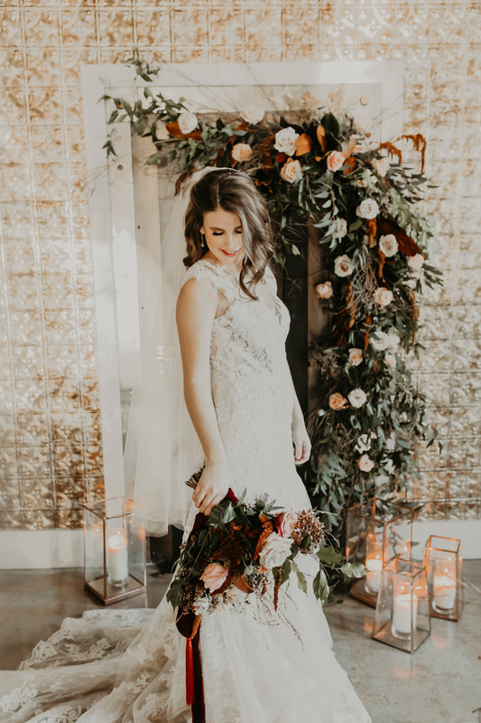 All of us at Summit Hickory Pit BBQ love the dress by Something White Bridal Boutique.  A show stopper for sure.